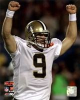 Drew Brees Super Bowl XLIV Celebration (#1) Fine Art Print