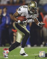 Marques Colston Super Bowl XLIV Action (#20) Framed Print