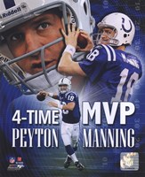 Peyton Manning 4 X MVP Portrait Plus Fine Art Print