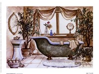 Vintage Bathtub lll Framed Print
