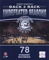 2010 University of Connecticut Huskies Women's Basketball Back to Back Undefeated Seasons Fine Art Print