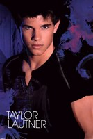 Taylor Lautner - Blue Wall Poster