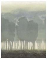 Treeline Haze II Framed Print