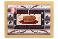 Americanna Bread Framed Print