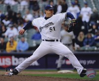 Trevor Hoffman 2010 Pitching Action Framed Print
