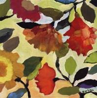 Floral Tile I Framed Print