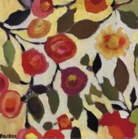 Floral Tile II Framed Print