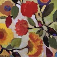 Floral Tile III Framed Print