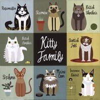 Kitty Family Framed Print