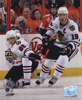 Patrick Kane & Jonathan Toews 2009-10 NHL Stanley Cup Finals Game 3 Action (#11) Fine Art Print