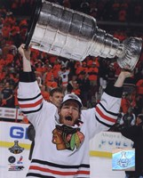 Duncan Keith with the 2010 Stanley Cup (#32) Fine Art Print