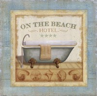 Beach Hotel I Framed Print