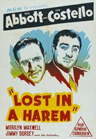 Abbott and Costello, Lost in a Harem, c.1944 Framed Print