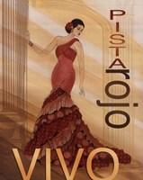 Pista Rojo Fine Art Print