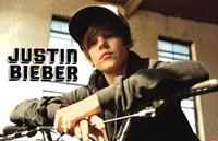 Justin Bieber - Bike Framed Print