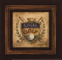 Golf Royal - petite Framed Print