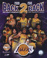 "Los Angeles Lakers ""Back-to-Back"" PF GOLD Limited Edition Fine Art Print"