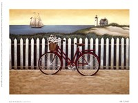 Cycle To The Beach Fine Art Print