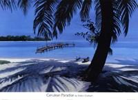 Cerulean Paradise Framed Print