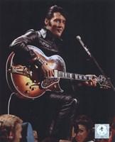 Elvis Presley Wearing Black Leather Jacket (#4) Fine Art Print