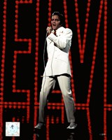 Elvis Presley Wearing White Suit (#5) Fine Art Print