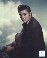 Elvis Presley with Cloud Backround (#12) Fine Art Print