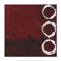 Red Circles II Framed Print