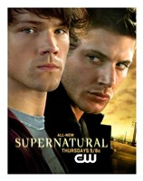 Supernatural (TV) Sam & Dean Winchester Framed Print