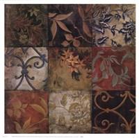 Floral Mosaic V Fine Art Print