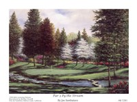 Par 3 By The Stream Fine Art Print