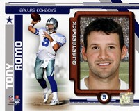 Tony Romo 2010 Studio Plus Fine Art Print