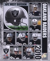 2010 Oakland Raiders Team Composite Fine Art Print