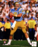 Troy Aikman Bruins 1988  Football Action Fine Art Print