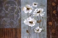 Blue Iridescent Anemones Fine Art Print