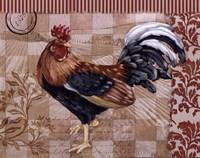 Bergerac Rooster Red II - mini Framed Print