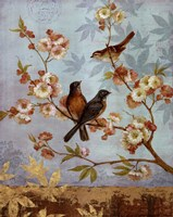 Robins & Blooms - mini Fine Art Print