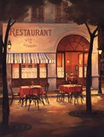 Evening Restaurant Fine Art Print