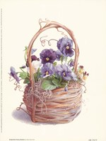 Grapevine Pansy Basket Framed Print