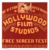 Hollywood Film Studios Fine Art Print