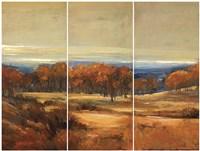 Golden Horizon Triptych Fine Art Print