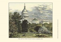 Capitol From the Botanical Gardens Fine Art Print