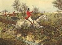The English Hunt I Framed Print