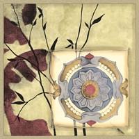 Printed Moonlit Rosette I Fine Art Print