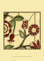 Small Floral Mosaic II Fine Art Print