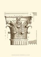 Small Corinthian Detail II (U) Fine Art Print