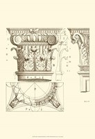 Small Corinthian Detail III (U) Fine Art Print