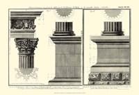 Small Cornice Tempio di Vesta Fine Art Print