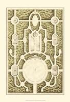 Small Garden Maze I (P) Fine Art Print
