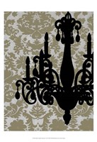 Small Chandelier Silhouette I (P) Fine Art Print