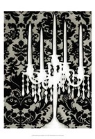 Small Patterned Candelabra I (P) Framed Print